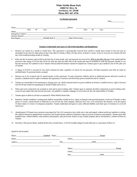 home rental agreement template 10 best images of home rental agreement house rental