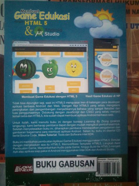 jual buku membuat game android jual buku membuat game edukasi dengan html 5 dan android