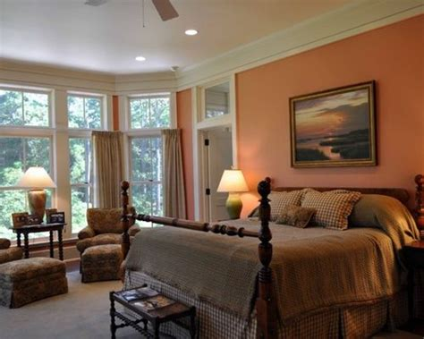 peach colored bedrooms peach bedroom houzz