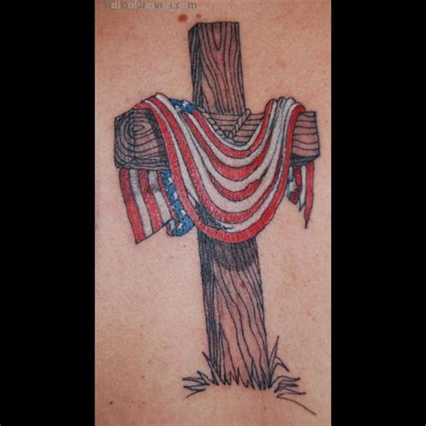 eagle cross tattoos cross and american flag ideas