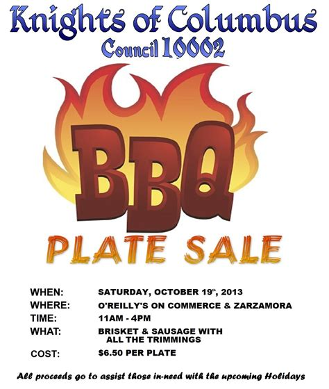 bbq plate sale flyer template