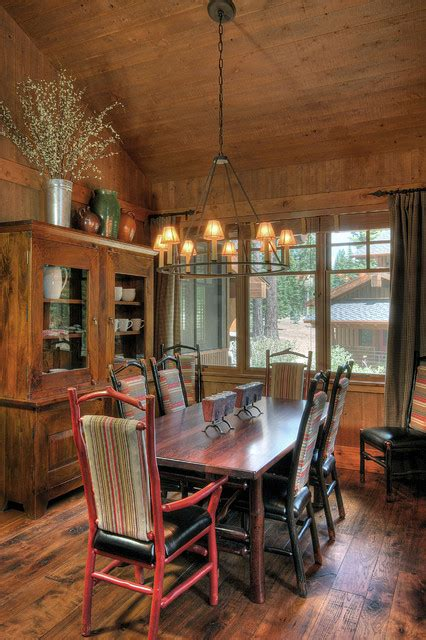 martis c lake tahoe rustic dining room other