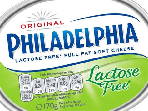 philadelphia enters free from with first lactose free cheese