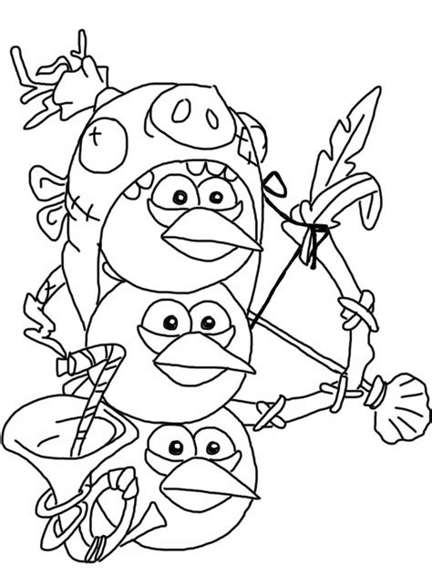 angry birds thanksgiving coloring pages angry birds epic coloring page blue birds my free