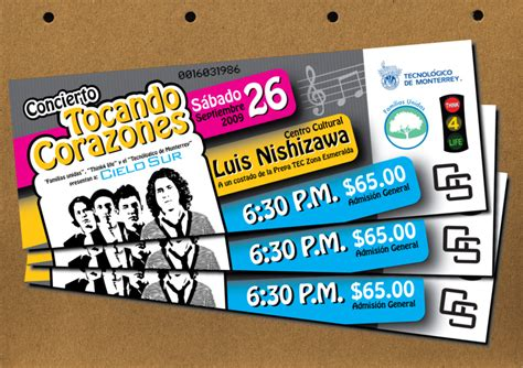 25 awesome examples of concert ticket designs top design