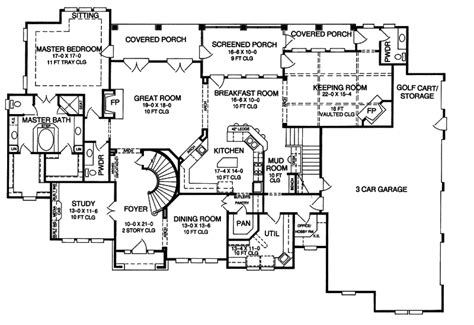European Floor Plans by Darby Hill European Style Home Plan 019s 0003 House