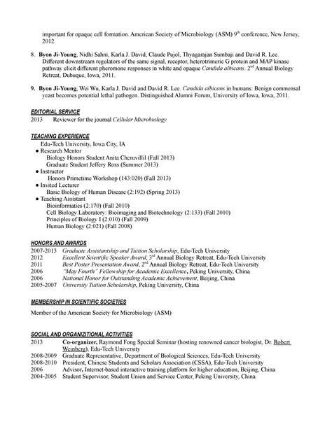Curriculum Vitae Sle Postdoctoral Fellowship Resume Postdoc Bestsellerbookdb 28 Images Resume Postdoc Bestsellerbookdb Postdoc Cv