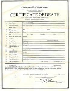 best photos of sample death certificate form new york