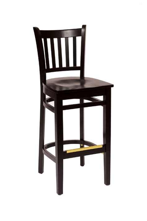 Black Wooden Bar Stool Black Wood Slat Back Bar Stool Bar Restaurant Furniture Tables Chairs And Bar Stools
