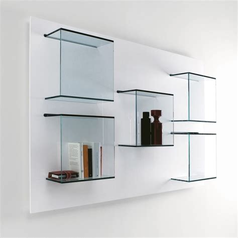 tonelli dazibao glass wall unit shelving units go