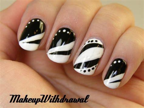 imagenes de uñas negras con blanco black and white nails for beginners pretty designs