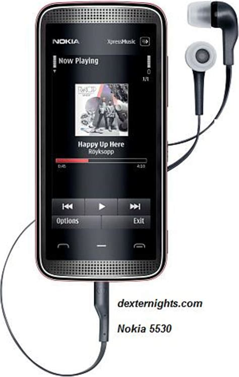 nokia 5530 express touch screen phone review and technical specs dexternights