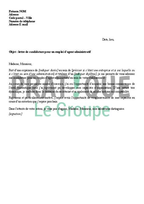 Exemple De Lettre De Motivation Coordinateur Administratif exemple lettre motivation administratif