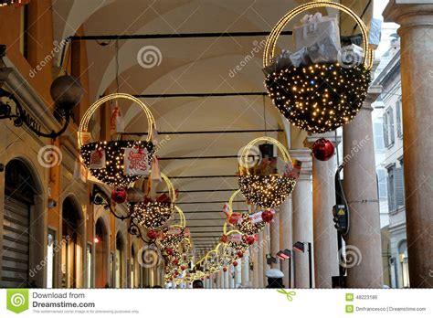 italian christmas decorations editorial photo image