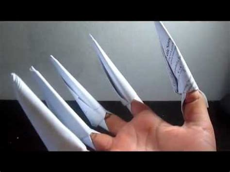 How To Fold A Paper Claw - how to make tutorial paper wolverine claw