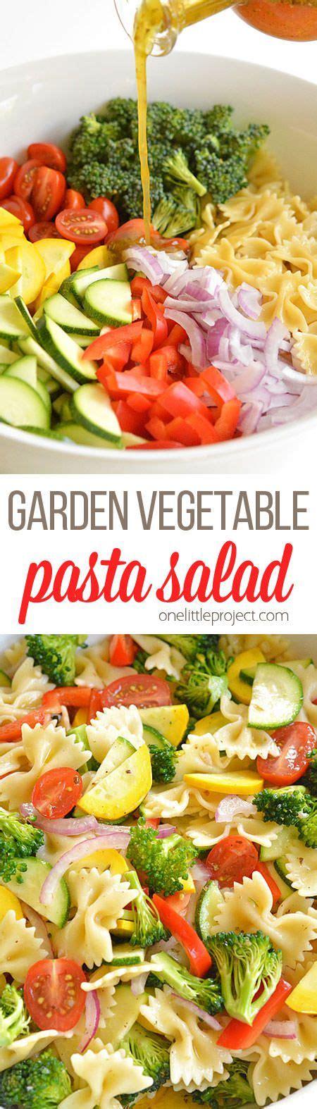 Garden Vegetable Pasta Salad Recipe Gardens Vegetables Garden Vegetable Pasta Salad