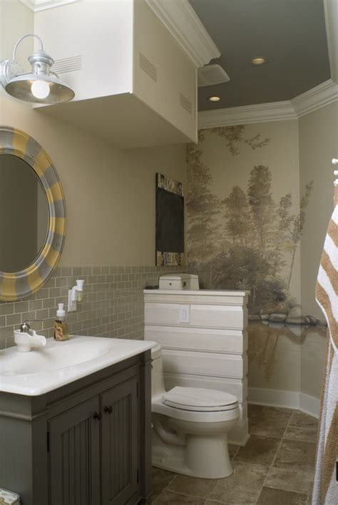 Ideas For Painting Bathroom Walls Wall Ideas For Bathrooms 2017 Grasscloth Wallpaper