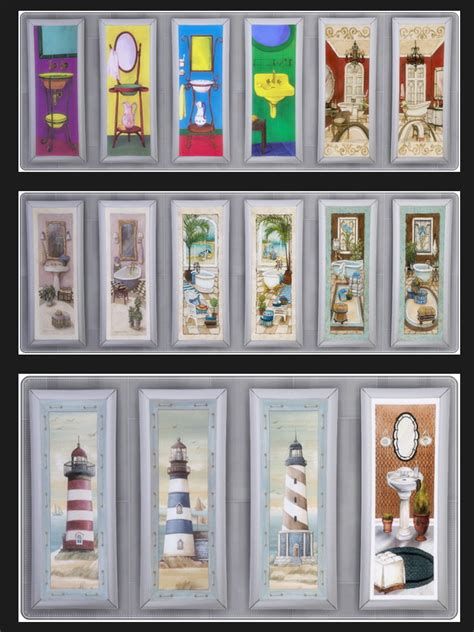 Bathroom Decor Objects Bathroom Paintings At Annett S Sims 4 Welt 187 Sims 4 Updates
