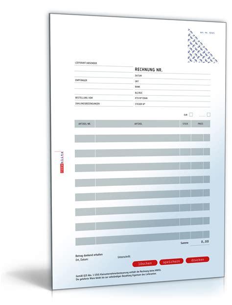 Rechnung Bezahlen Englisch Rechnung Kleinunternehmer Ohne Mehrwertsteuer