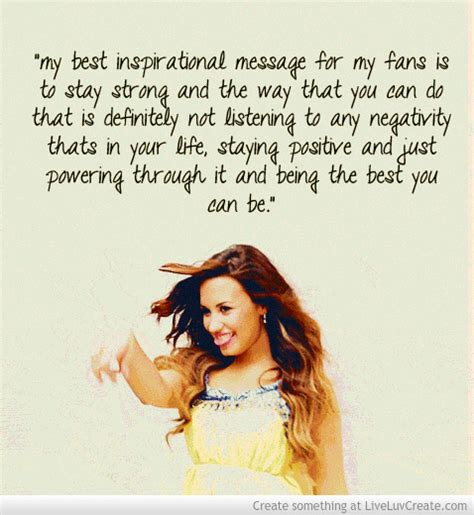 demi lovato quotes about life inspirational quotes by demi lovato quotesgram
