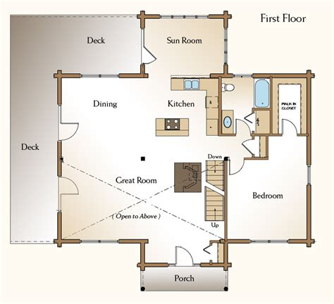 the mendon log home floor plans nh custom log homes