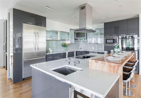 modern kitchen breakfast bar modern kitchen with breakfast bar by kitchen encounters