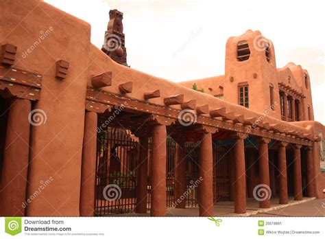 American House Design And Plans santa fe adobe architecture stock image image 20518891