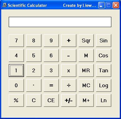 coding visual basic calculator creating a scientific calculator in visual basic visual