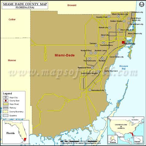 usa map with miami miami dade county map florida