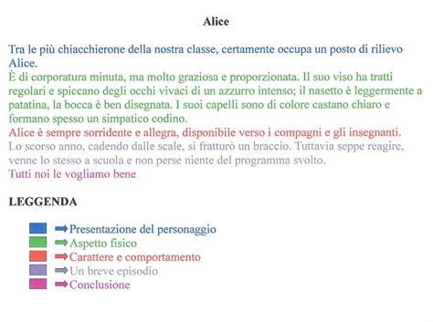 esempi di testi descrittivi pin il testo descrittivo schema con percorso didattico on