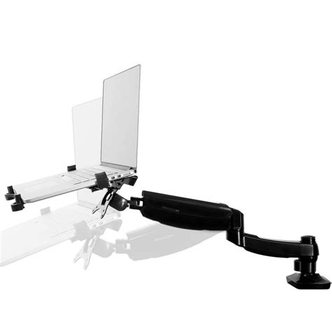 articulated arm desk l loctek store loctek desk notebook mount for most laptops d5l
