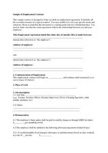 self employment contract template best photos of sle employment agreement sle