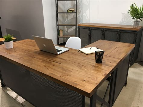 industrial l shaped desk modern industrial office design for commercial and