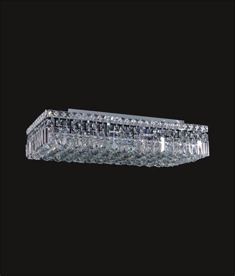 swarovski ceiling light fixtures ibiza design 6 light rectangular 24 flush mount ceiling