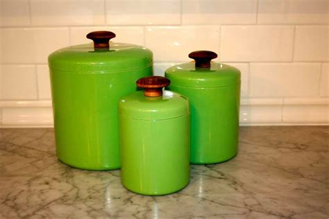 canister sets for kitchen buy green mint set the vintage