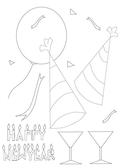 new year s bell coloring page new year bells coloring printable page for kids