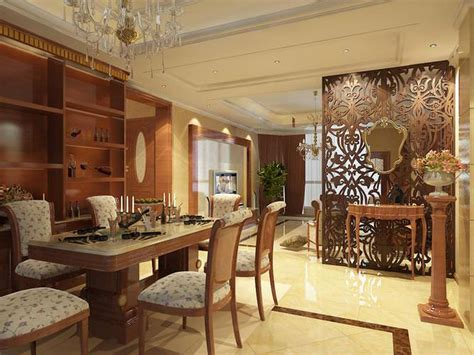 dining room  designer partition cgtrader