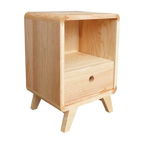 tiroir en bois chevet bois