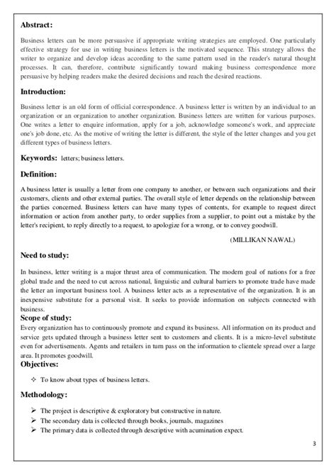 Types Of Business Letter In Business Letters 3 3 Abstract Business Letters Types Of Business Letters How To Write Business