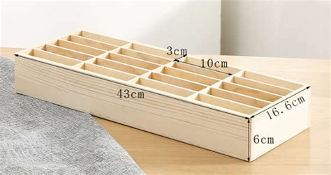 wooden  storage compartments multifunctional storage box