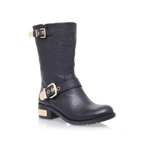 vince camuto winchell black low heel claf boots by vince