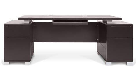 Ford Executive Modern Desk With Filing Cabinets Dark Furniture Desk