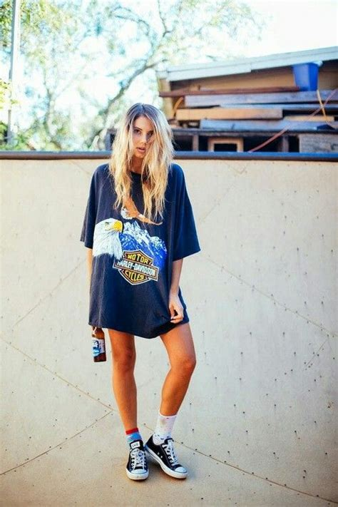 Would You Wear An All Denim Like On Project Runway Last by Graphic Prints On Oversized T Shirts Are Great And Give A