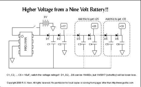 capacitor values in voltage multiplier charge capacitor values