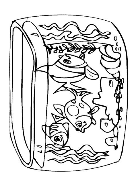 Coloring Picture Of Tank Child Coloring Fish Tank Coloring Pages