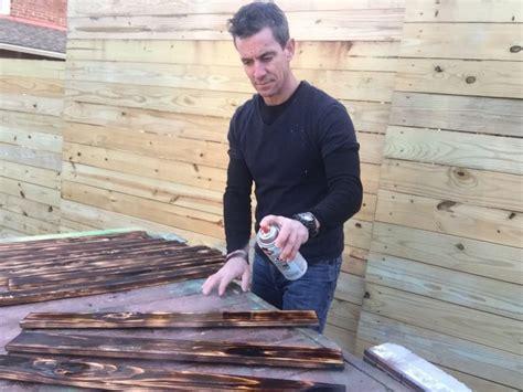 Man cave bathroom design project: Make a burnt wood bath mat