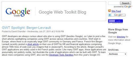 tutorial google web toolkit google web toolkit blog september best free home