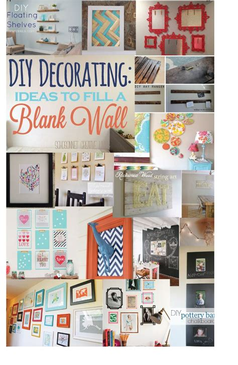 creative ideas for home decor 20 ideas to decorate a blank wall diy art creative and