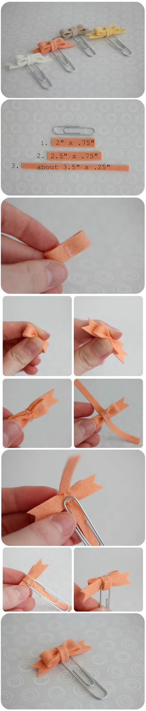 How To Make A Paper Clip Bow And Arrow - diy bow paper clip fabdiy