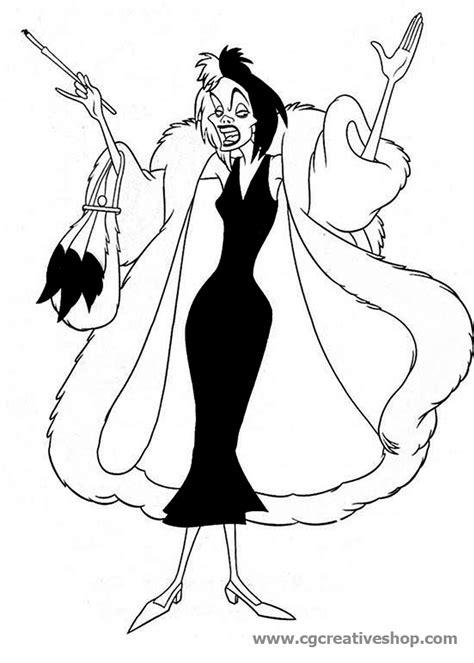 Crudelia De Mon (Disney), disegno da colorare